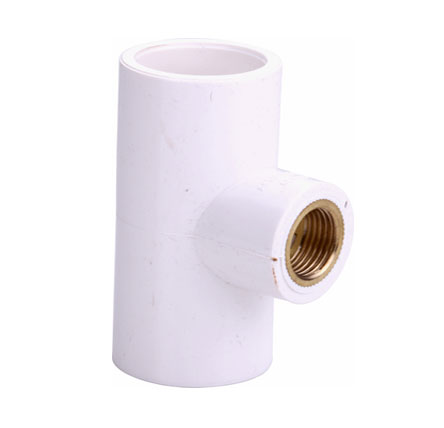 UPVC Reducer Brass Tee - UPVC Pipe Fitting Tee